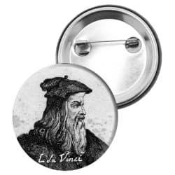 Badge Epingle Leonard de Vinci