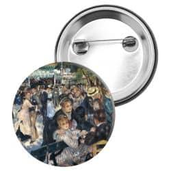 Badge Epingle Auguste Renoir - Le bal du moulin de la galette