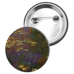 Badge Epingle Claude Monet - Les nympheas