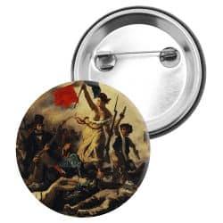 Badge Epingle Eugene Delacroix - La liberte guidant le peuple