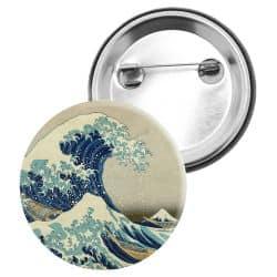 Badge Epingle Hokusai - La Grande Vague de Kanagawa