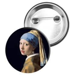 Badge Epingle Johannes Vermeer - La jeune fille à la perle