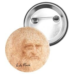 Badge Epingle Leonard de Vinci - Autoportrait