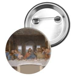 Badge Epingle Leonard de Vinci - La Cene