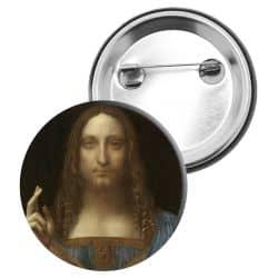 Badge Epingle Leonard de Vinci - Salvador Mundi
