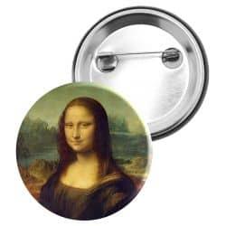 Badge Epingle Leonard de Vinci - Mona Lisa