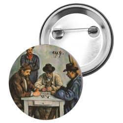 Badge Epingle Paul Cezanne - Les joueurs de cartes