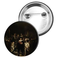 Badge Epingle Rembrandt - La Ronde de nuit