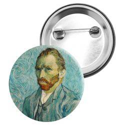 Badge Epingle Vincent Van Gogh - Autoportrait