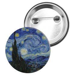 Badge Epingle Vincent Van Gogh - La nuit Etoilee