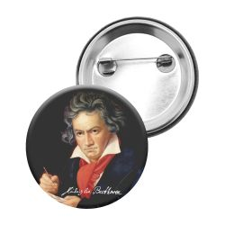Badge Epingle Ludwig Van Beethoven Portrait peint