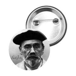 Badge Epingle Emile Zola Portrait Beret