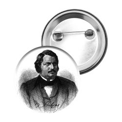 Badge Epingle Honore de Balzac