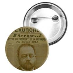 Badge Epingle Emile Zola J'accuse