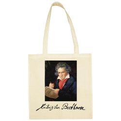 Sac Shopping ECRU Ludwig Van Beethoven Portrait peint