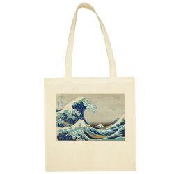 Sac Shopping ECRU Hokusai - La Grande Vague de Kanagawa