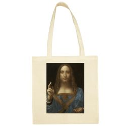 Sac Shopping ECRU Leonard de Vinci - Salvador Mundi