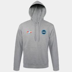 Sweat Shirt Capuche GRIS Logo LNH et Logo Fenix Toulouse Handball