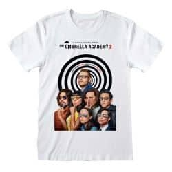 T-shirt BLANC Umbrella Academy - Poster