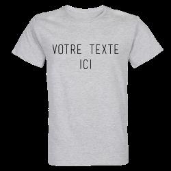 T-shirt GRIS Personnalisation