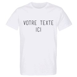 T-shirt BLANC Personnalisation