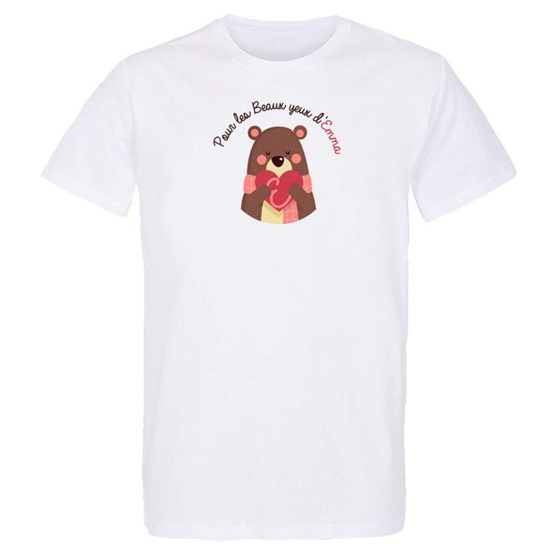 T-shirt BLANC Logo Assocciation Pour les Beaux Yeux D'emma