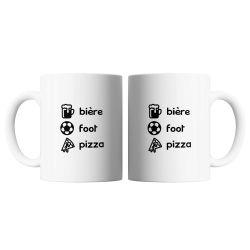 Mug Bieres, Foot, Pizza