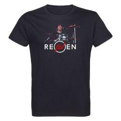 T-shirt Homme NOIR Drummer 2 Photo Couleur