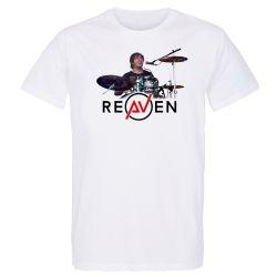 T-shirt Homme BLANC Drummer 2 Photo Couleur