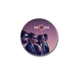 Dessous de verre rond Reaven Photo Groupe de profil