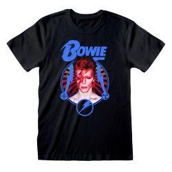 T-shirt NOIR David Bowie - Starburst
