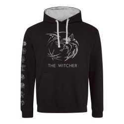 Sweat Capuche Contraste NOIR Witcher, The - Symbol (Super Heroes Collection)