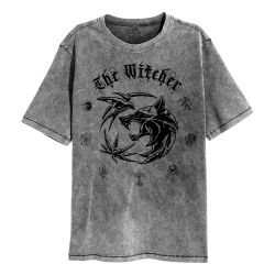 T-shirt Washed GRIS Witcher, The - Symbol (Super Heroes Collection)