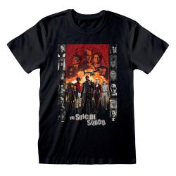 T-shirt NOIR Suicide Squad, The - Line Up