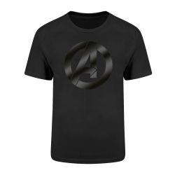 T-shirt NOIR Avengers - Icon Black On Black