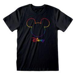 T-shirt NOIR Silhouette - Rainbow Disney Collection Avec Print Col