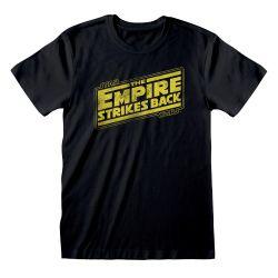 T-shirt NOIR Star Wars - Empire Strikes Back Logo