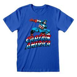 T-shirt BLEU Marvel Comics - Captain America