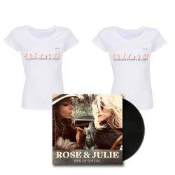 Pack Femme T-shirt Femme BLANC La Cigale Chante en Juin T-shirt Femme BLANC LI