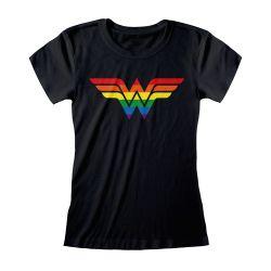 T-shirt Femme Fit NOIR Wonder Woman Logo - DC Pride