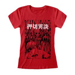 T-shirt Femme Fit ROUGE Junji Ito - Dripping