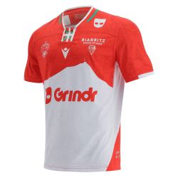 Maillot Officiel ADULTE Biarritz Olympique Domicile ROUGE BLANCGrindr