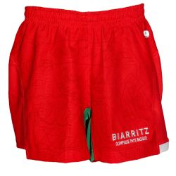 Short Officiel ADULTE Biarritz Olympique Domicile ROUGE BLANCGrindr