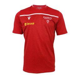 T-shirt Officiel Entrainement ADULTE Biarritz Olympique ROUGE BLANC Grindr