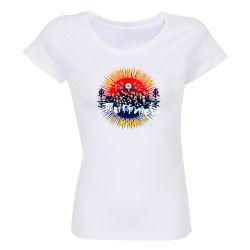 Lot de 10 T-shirts Femme BLANC Medaille d'Or 2021 Taille XL