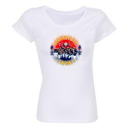 Lot de 10 T-shirts Femme BLANC Medaille d'Or 2021 Taille L