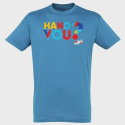 T-shirt TURQUOISE Hand you