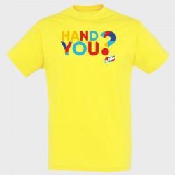 T-shirt JAUNE Hand you