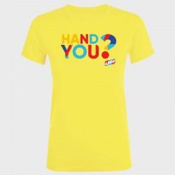 T-shirt Femme JAUNE Hand you