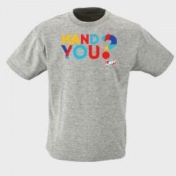 T-shirt Enfant GRIS Hand you